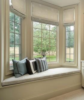 欧式别墅转角飘窗装修效果图
