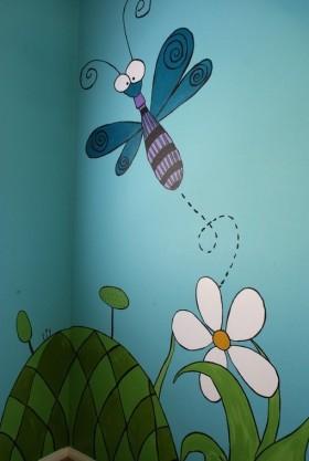 手绘涂鸦背景墙装修效果图