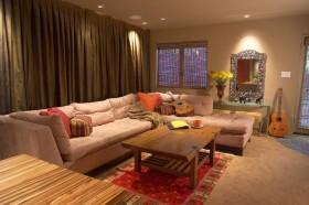 现代风格客厅窗帘装饰效果图 客厅装修