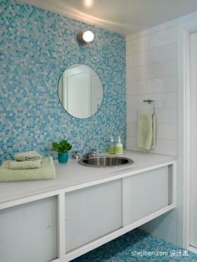 80平小户型卫生间瓷砖效果图