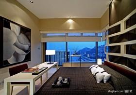 两室两厅现代卧室装修效果图 梁志天作品