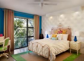 女生卧室装修效果图 现代风格女色卧室背景墙装修效果图