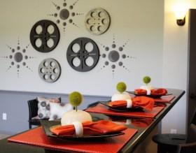 餐厅背景墙装修效果图