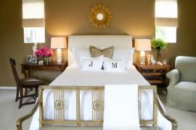 杏色卧室背景墙装修效果图大全