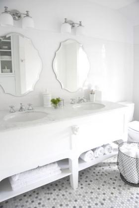 白色简约洗手台装修效果图