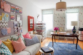 时尚混搭风格单身公寓装修图