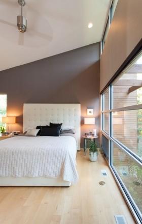 灰色冷色调卧室背景墙装修效果图大全