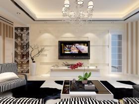 最新现代客厅电视背景墙设计图片