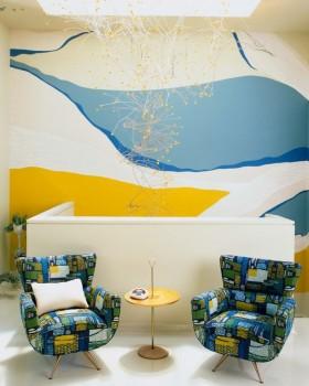 现代风格手绘背景墙设计效果图
