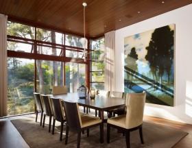 农村别墅餐厅装修效果图 餐厅背景墙装修效果图