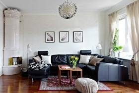 50平米小户型客厅沙发装修效果图 简欧客厅装修效果图