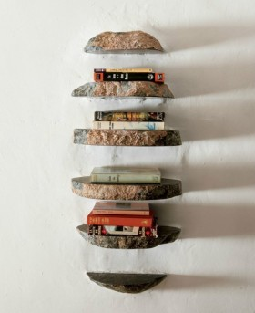 地中海创意极简的书架搁物架装饰图片