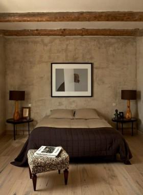 北美暗色调复古卧室装修效果图大全