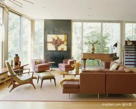 复式楼现代简约客厅装修效果大全2013图片