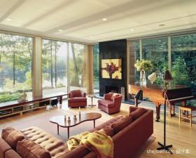 四居室自然色现代客厅装修效果图大全2013图片