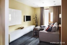 单身公寓客厅电视柜装修效果图