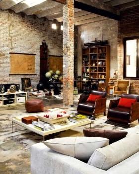 东南亚风格复古客厅装修效果图大全