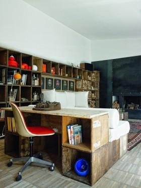 泰式风格客厅收纳柜装修效果图 书柜装修效果图