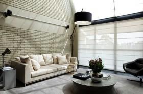 客厅仿古砖背景墙装修效果图片