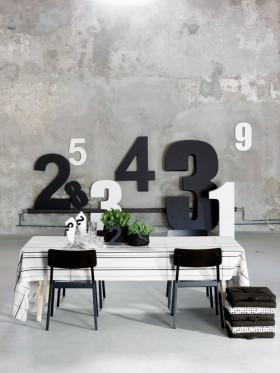 创意餐厅背景墙效果图片欣赏