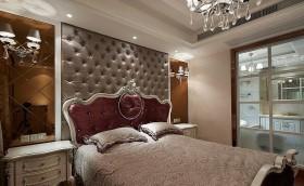 卧室装修效果图 欧式卧室背景墙装修效果图