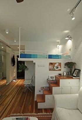 loft公寓小卧室设计 卧室装修效果图