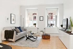 北欧风格70平米小户型客厅装修样板间