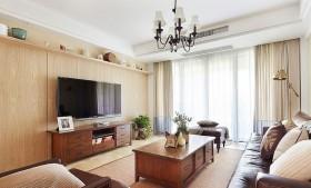 客厅电视背景墙装修效果图 三室两厅客厅装修图片