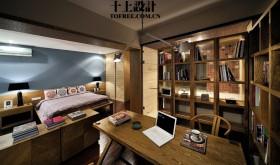 现代书房木质书架图片