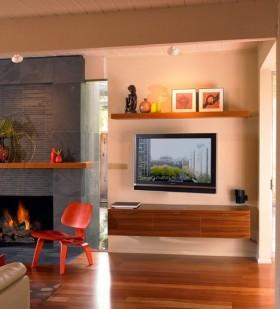 现代风格客厅电视背景墙效果图片大全