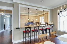 厨房吧台椅图片