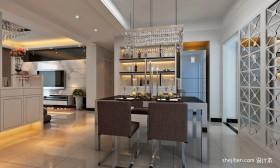 餐厅酒柜装修效果图 现代餐厅装修效果图