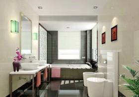 最新洗手间瓷砖装修效果图欣赏