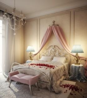 主卧室装修效果图大全 婚房卧室效果图