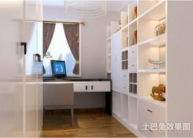 简约风格家庭书柜设计效果图