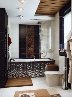 卫生间装修 长方形卫生间浴缸装修
