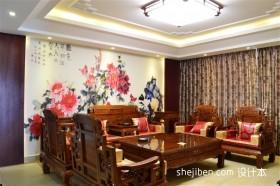 中式小户型家居客厅装修效果图