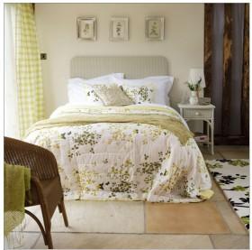 简约田园卧室装修效果图大全 床头置物架设计图片