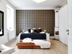 北欧风格卧室壁纸效果图片大全