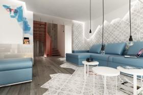 简约风格客厅沙发背景墙效果图 复式楼客厅装修效果图