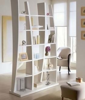 简约家装书柜隔断装修效果图