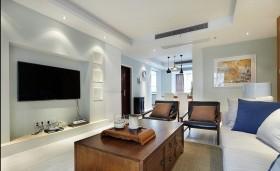 现代简约房屋客厅电视背景墙装修设计图