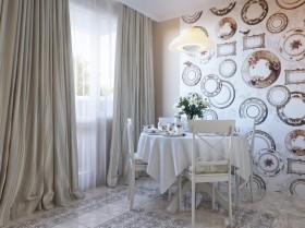 欧式风格小餐厅背景墙装饰效果图