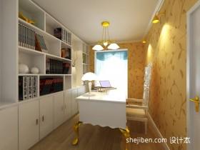 最新欧式别墅书房装修图片大全