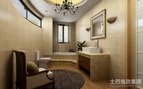 新中式别墅卫生间装修设计图片