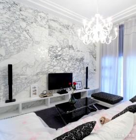 欧式大客厅大理石背景墙装修效果图