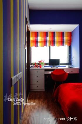 卧室飘窗改书房装修效果图