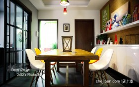 现代简约餐厅装修效果图大全2013图片