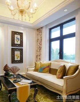 混搭欧式复式客厅装修效果图