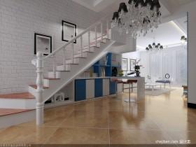 最新北欧风格复式楼梯装修效果图